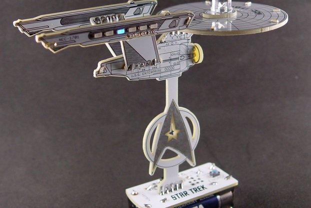 Bare PCB for 3D Startrek Enterprise