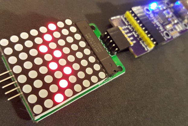 COMBO - Nusbio Board + 1 8x8 LED Matrix