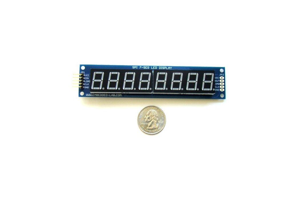 """Serial 8-digit 7-segment LED display (Green,0.56"""") 1"""