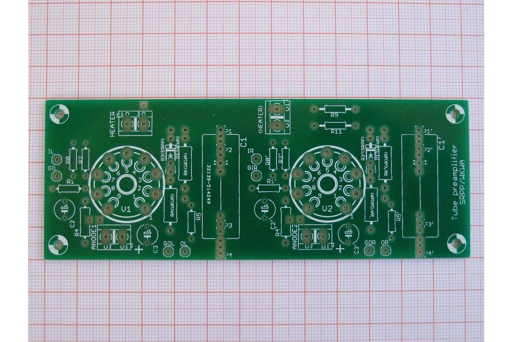 Universal PCB for tube pre SRPP/CCDA ECC88 ECC82 3