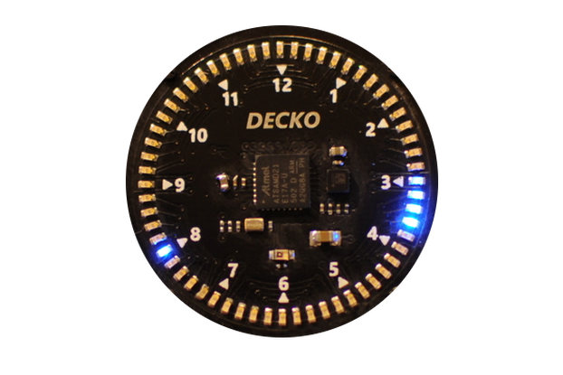 DECKO Circuit Face LED Watch - Assembled PCB Only