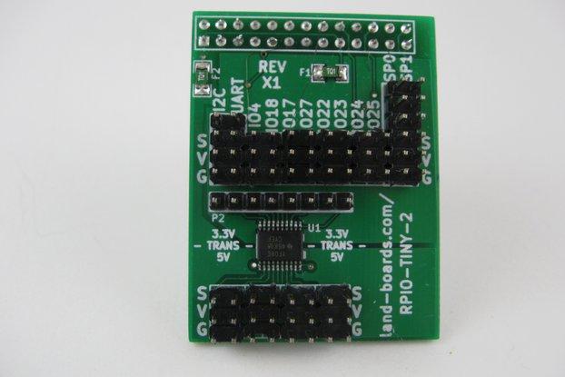 Raspberry Pi 5V Sensor Conn. Card (RPIO-TINY-2)