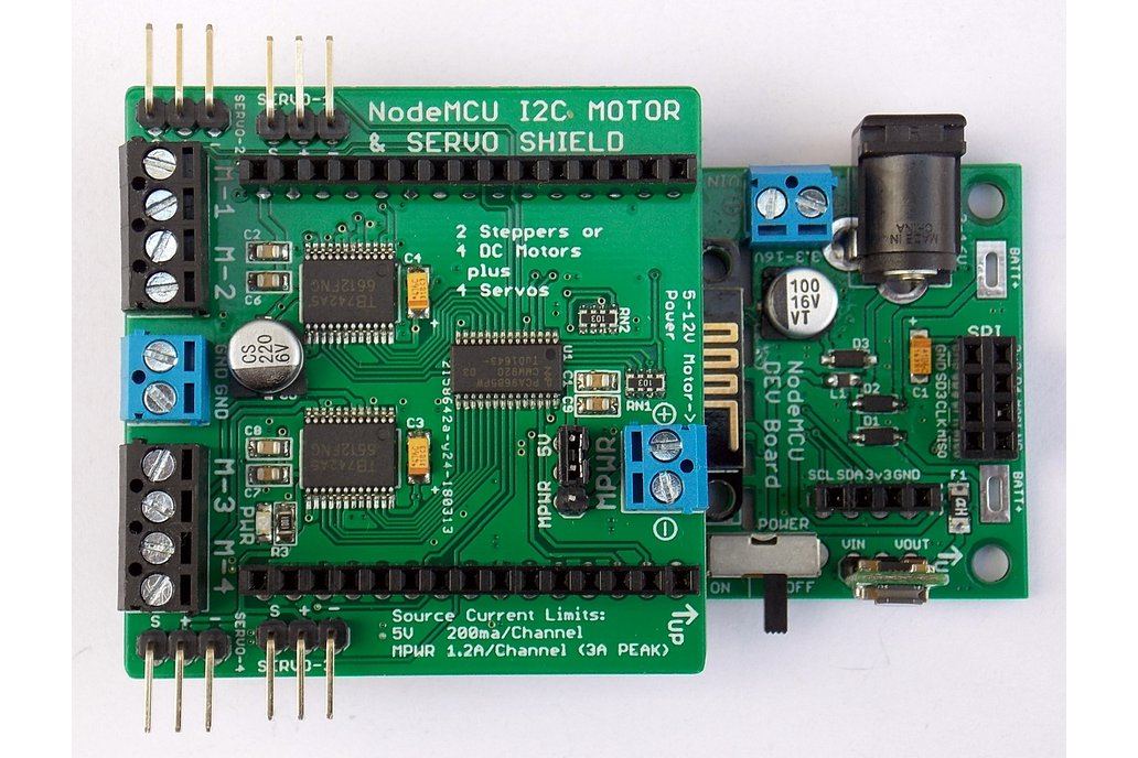 Quad Motor & Servo Shield for Wireless Dev Board 4