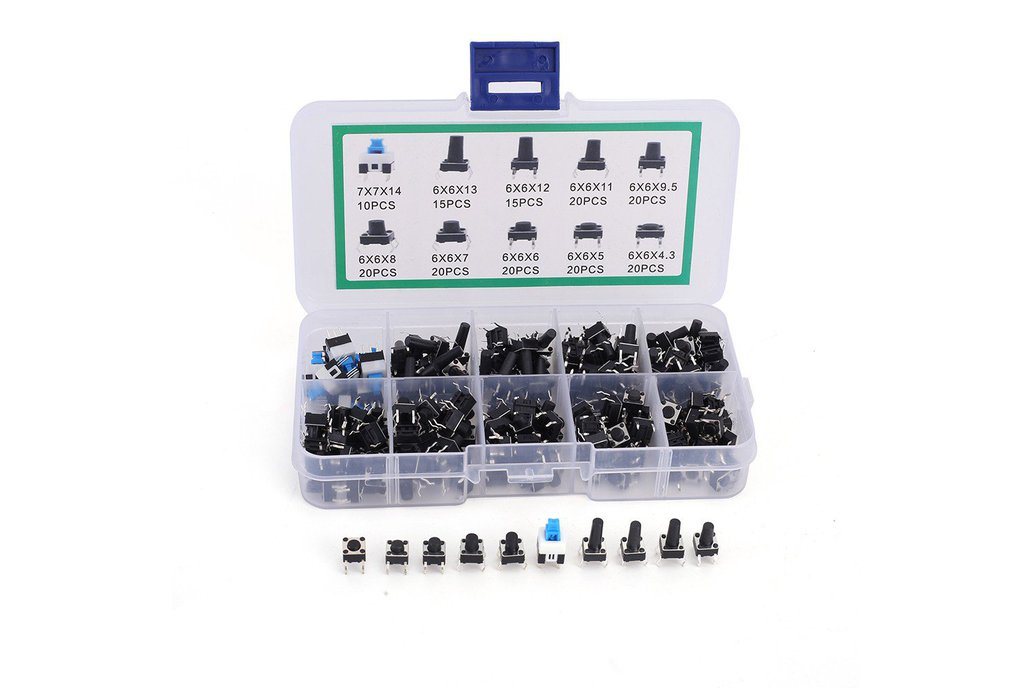 10 Values 6*6mm Tact Switch Kit (GY18608) 1