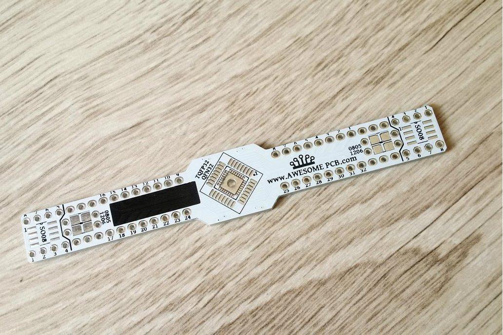 SMD Breakout board TQFP32 QFN32 TQFP44 QFN44 SO08 1