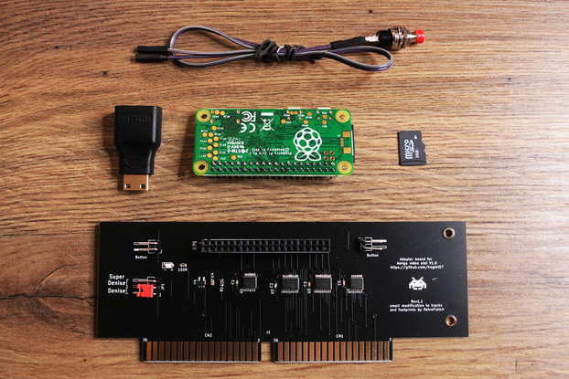 GOLD HDMI AMIGA 2000 / 3000 for Raspberry Pi Zero