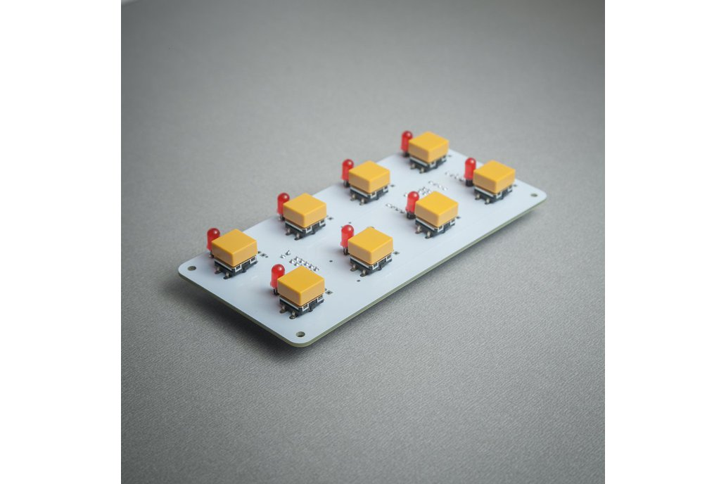 BL42 - 8 (4x2) tactile buttons + LED module 1