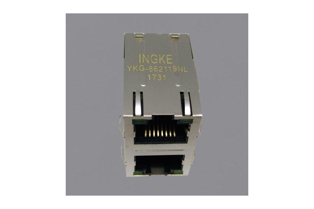 YKG-862119NL 2X1 Ports RJ45 Ethernet Connector 1