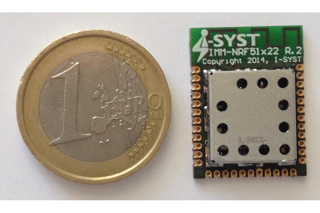 nRF51422 ANT+, Bluetooth LE, ARM Cortex-M0, 30 i/o 1