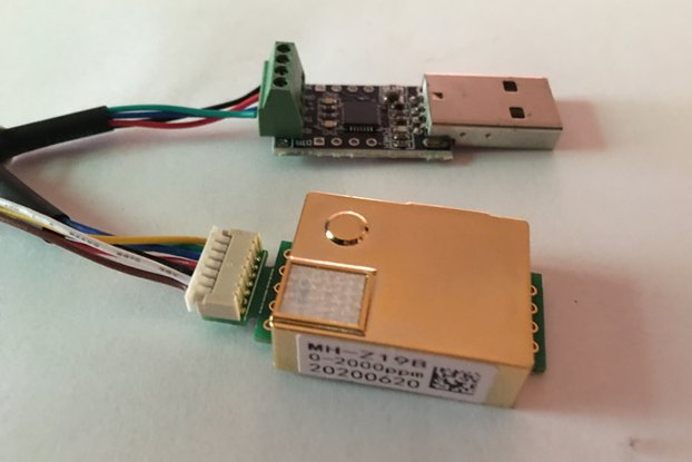 MH-Z19B CO2 sensor with USB interface
