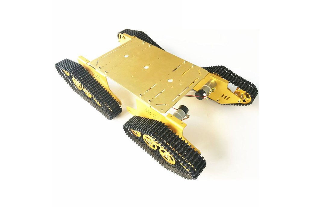 Arduino-compatible four wheels drive tank chassis 1