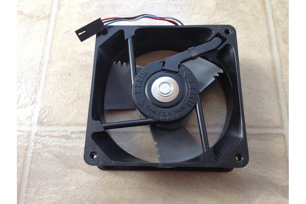"""48VDC  4.7""""x1.5"""" Brushless Fan (Creltek Surplus) 1"""