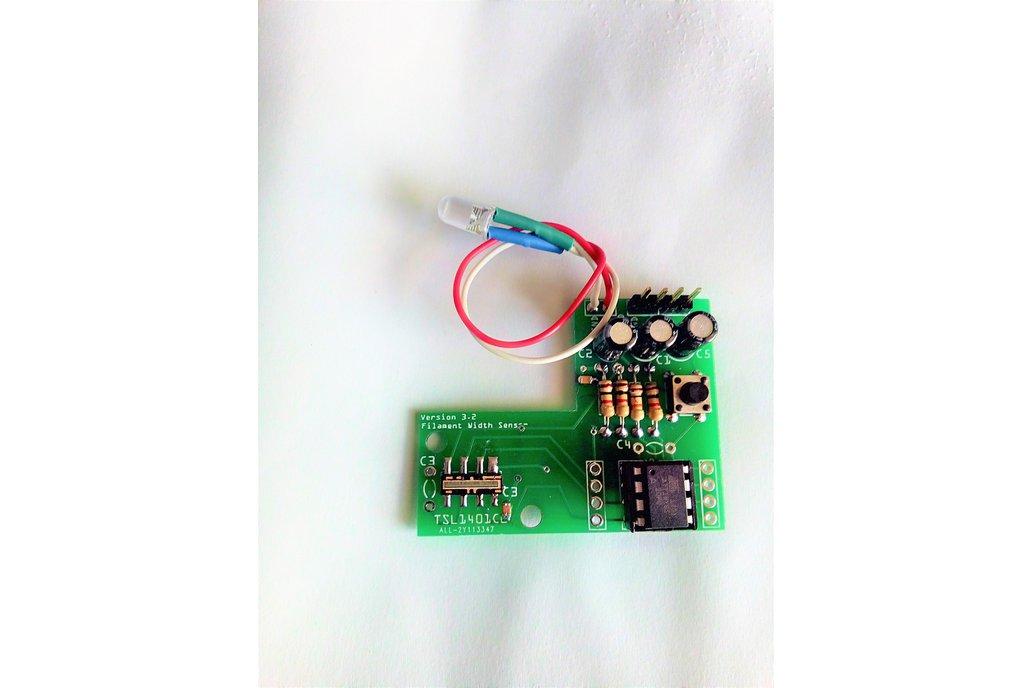 3D Printer Filament Diameter Sensing : Assembled 4