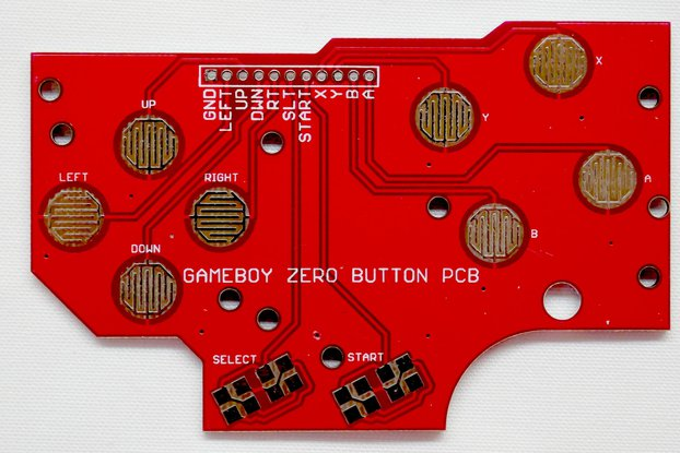 Game Boy DMG Button PCB Gold Zero Pi RetroPie