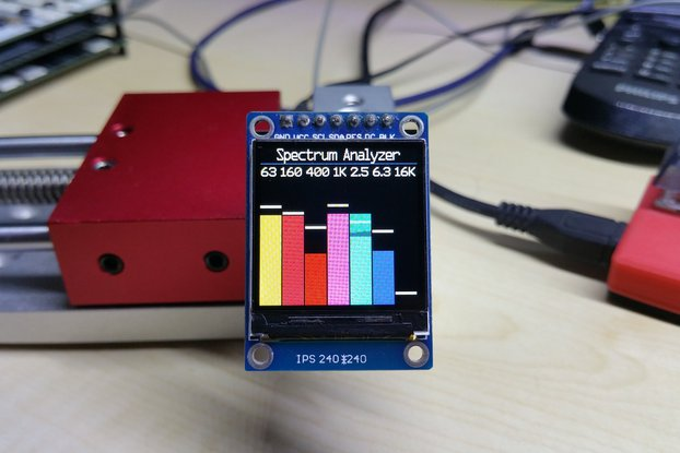 OLEDiUNO Spectrum Analyzer with 3 display modes