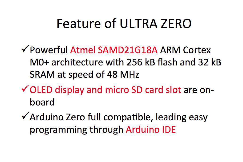 ULTRA ZERO, a successor of SDuino ZERO 3