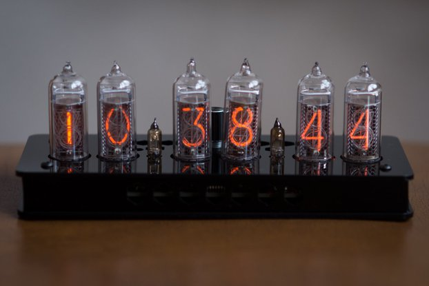 IN-14 Nixie Tube Clock Black Enclosure