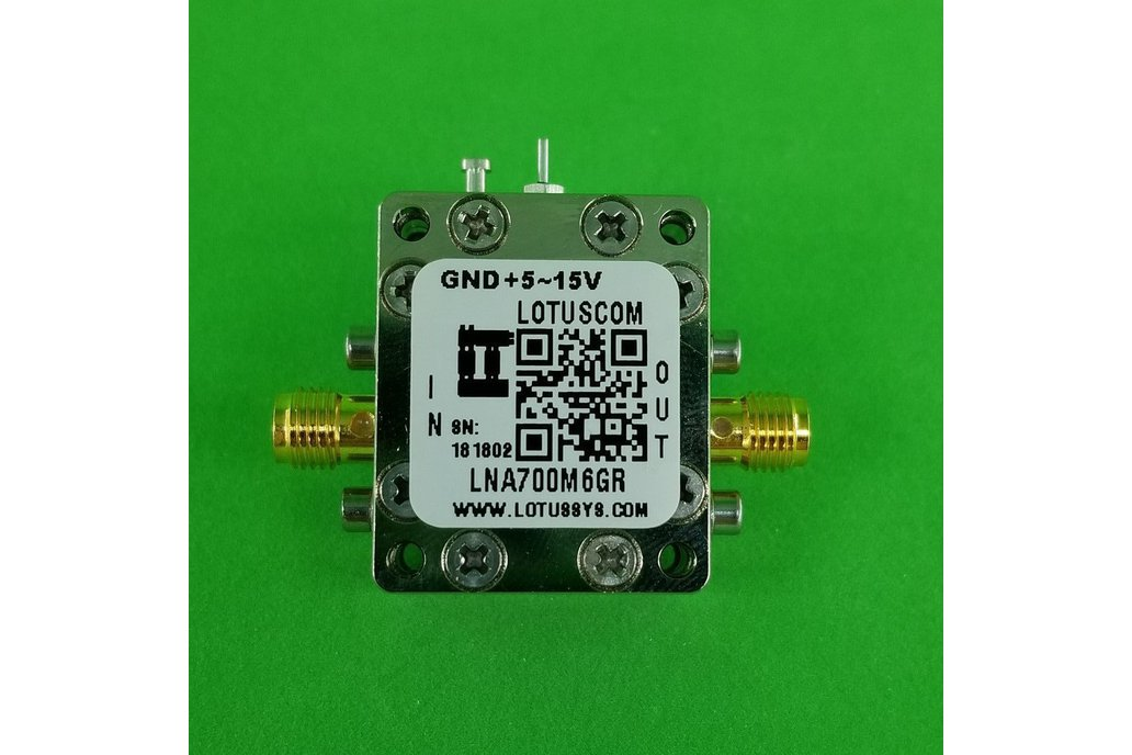 Broadband Ultra LNA with LDO 0.4dB NF 0.7~6GHz SMA 1