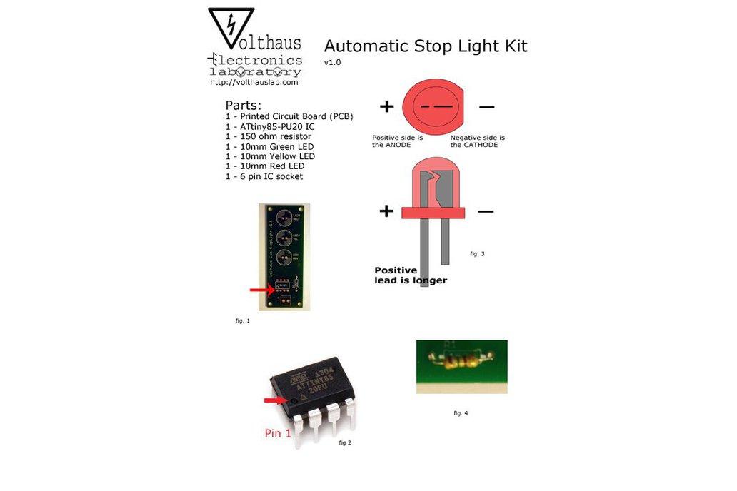 Classic ATtiny85-20PU Stop Light Kit 3