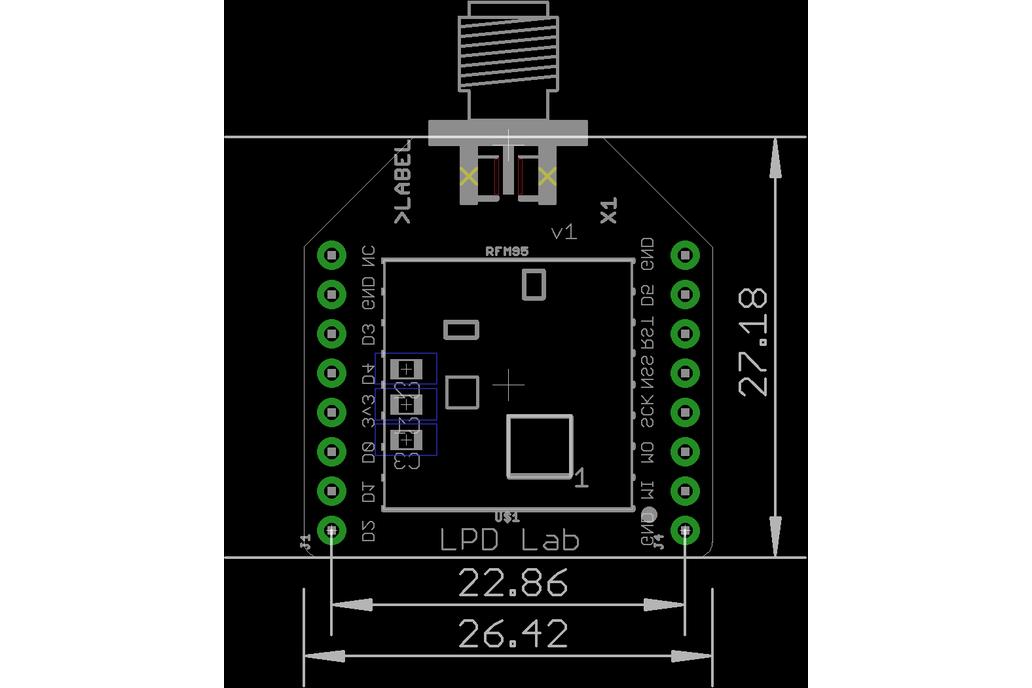 RFM95 LoRa Breakout board 3