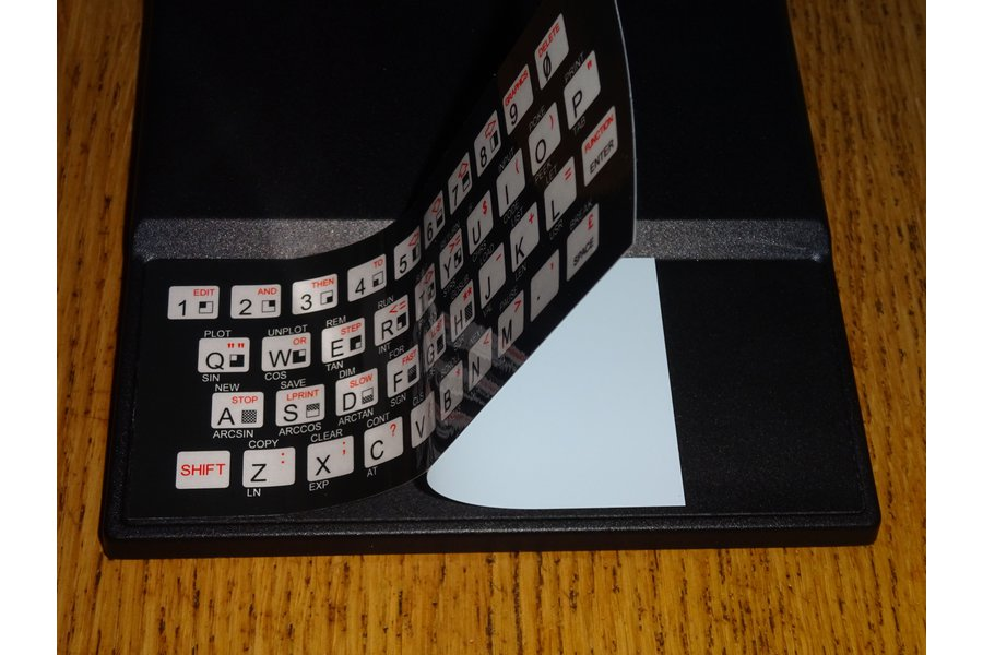 Keyboard overlays for TS1000/ZX80/ZX81