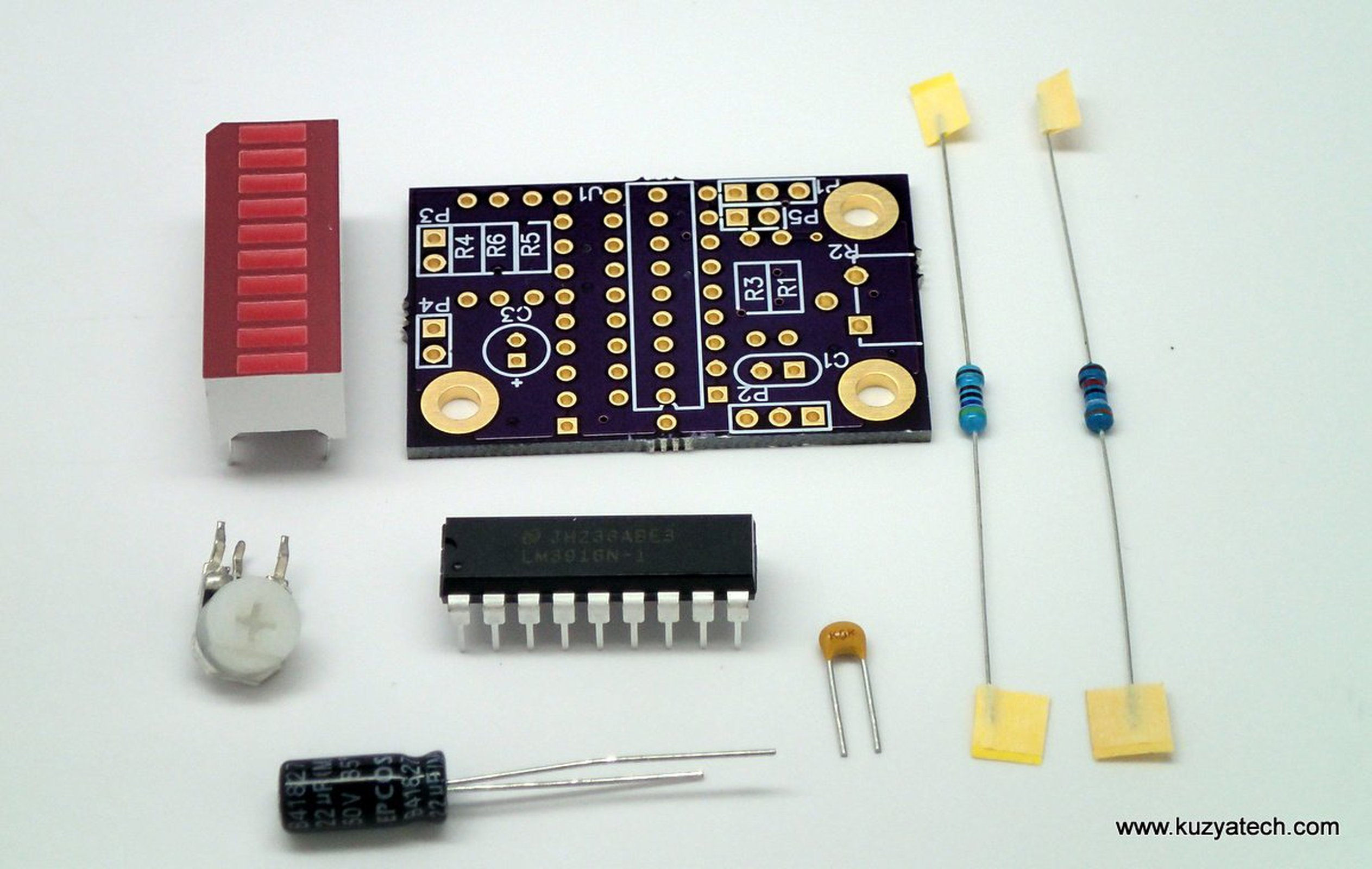 Lm3916 Led Bargraph Vu Meter Pick Your Color From Kuzyatech On Tindie How To Build 4 3