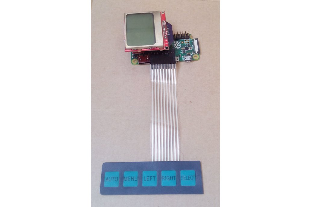 raspberry pi nokia 5110 lcd hat type B 1