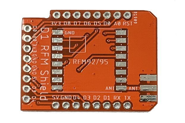 LoRa GateWay PCB Shield Only RFM92/RFM95 Wemos D1