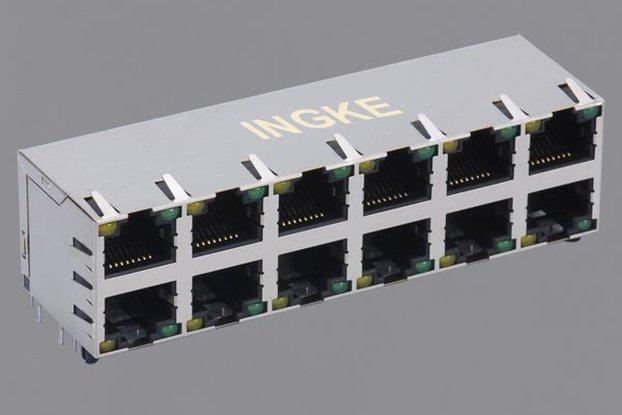 Ingke 2x6 ports RJ45 Modular Connectors