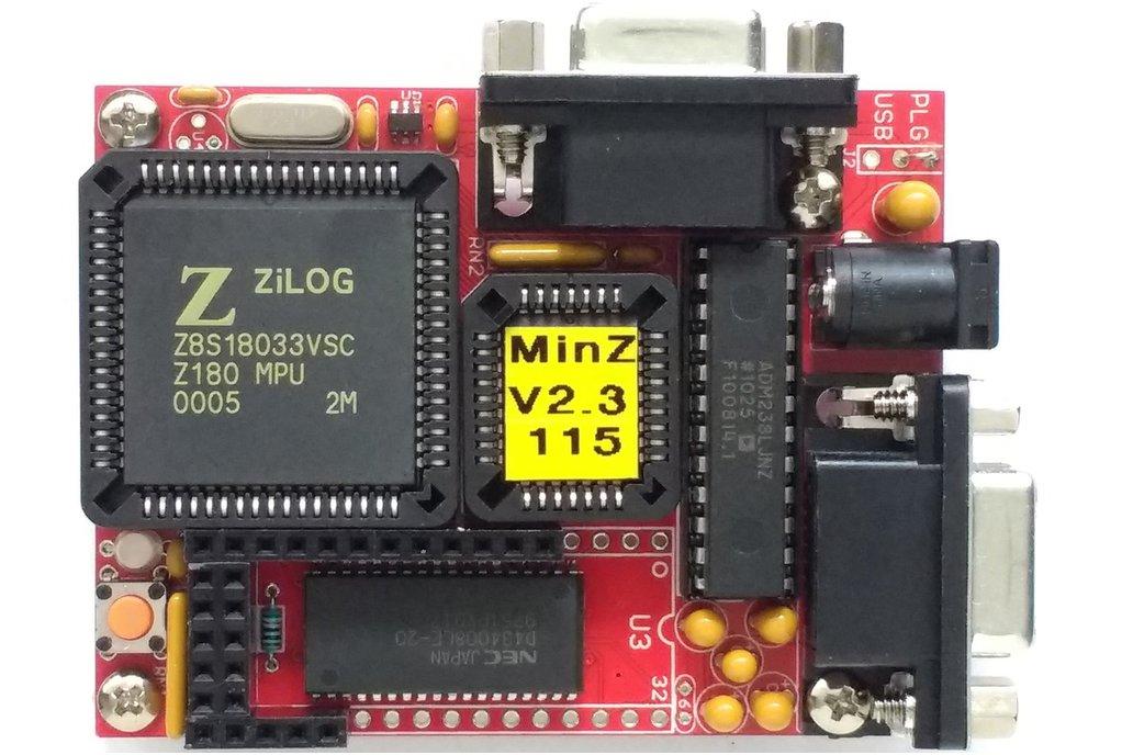 MinZ - Z180 System with 512 KB at 33/36 MHz 1