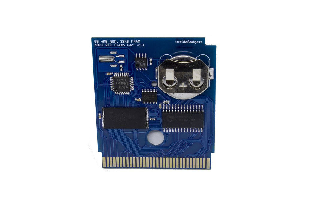 Gameboy 4MB 32KB FRAM MBC3 RTC Flash Cart 1