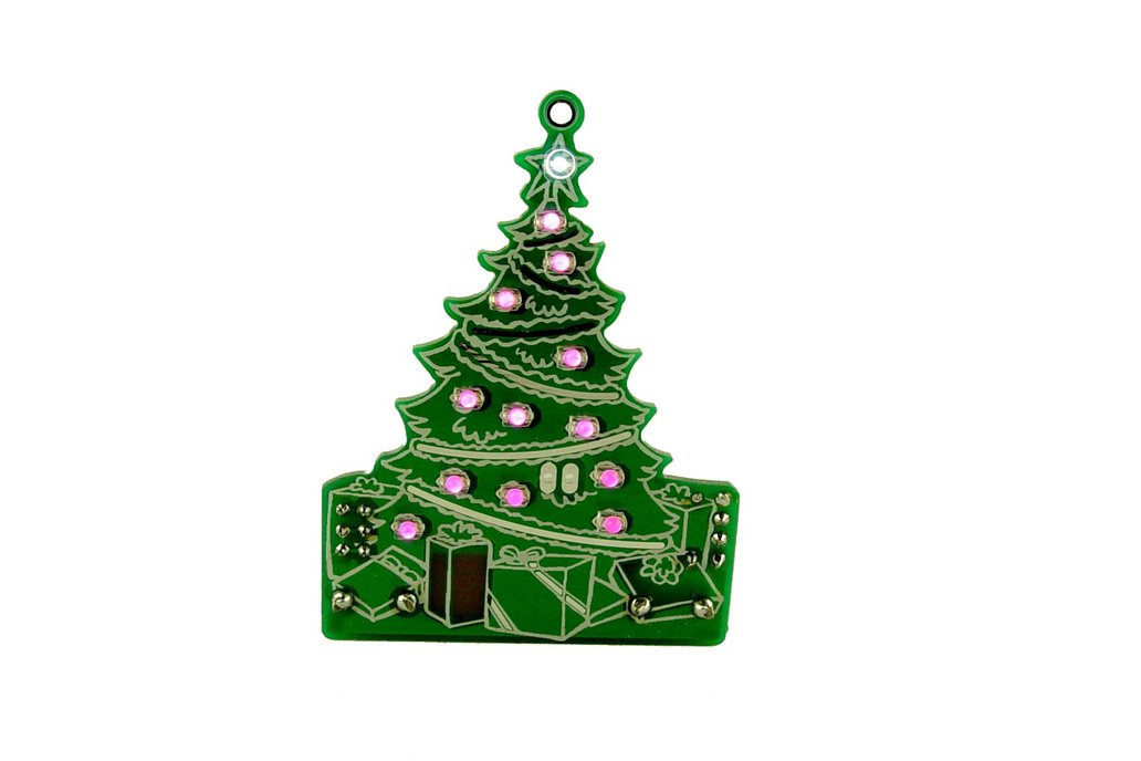 DIY Xmas desktop Tree 13 LED- KIT 4