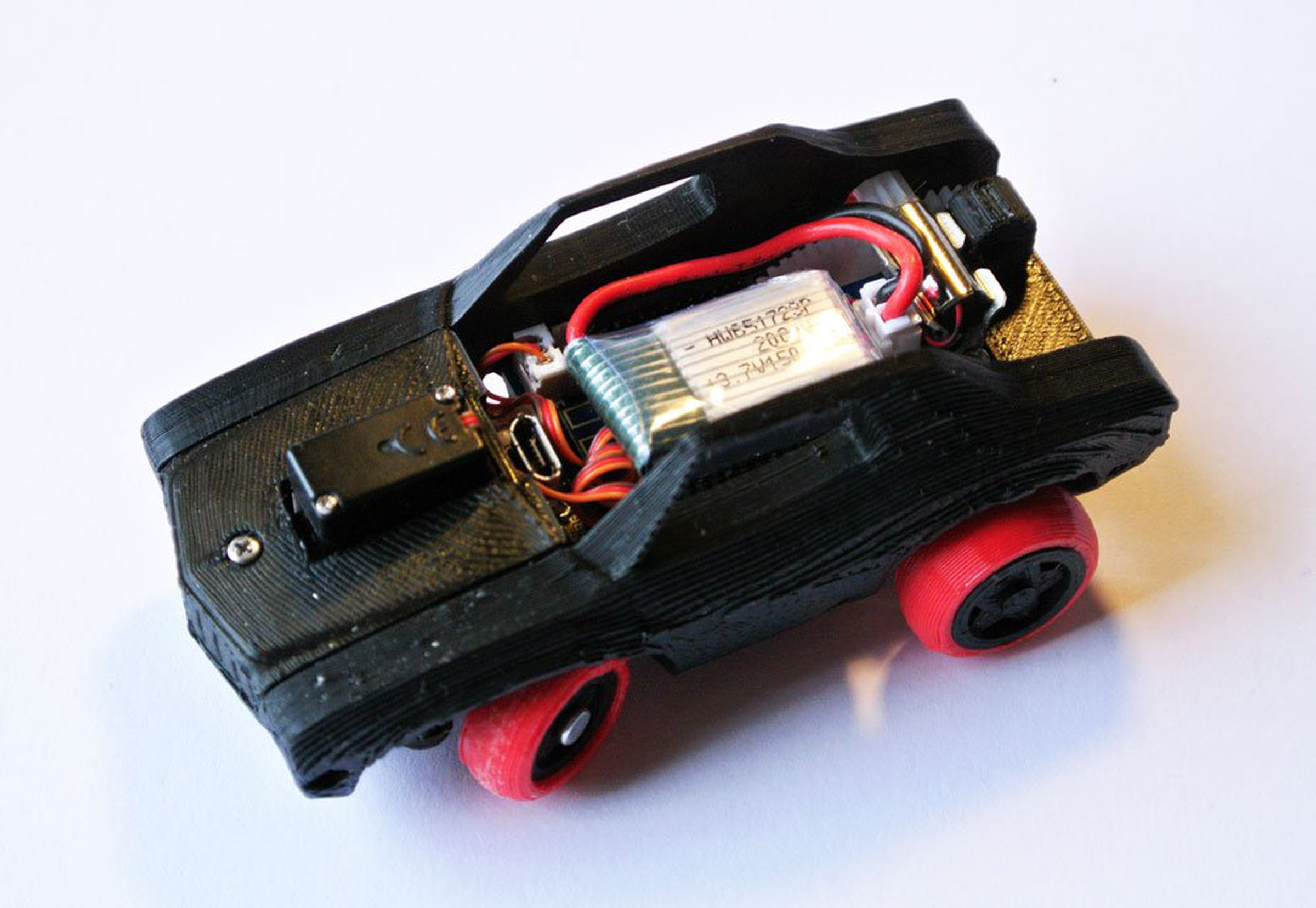 3DRacers 3D Printed RC Car Kit BLE Arduino from Marco D Alia