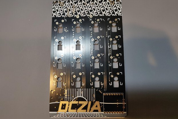 DCZia Mechanical Keyboard Badge Blank PCB