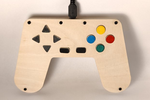 Wooden USB Gamepad