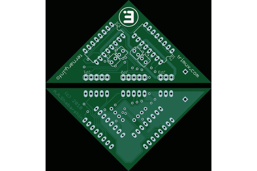 Dual balanced ternary multiplexer/demultiplexer 2