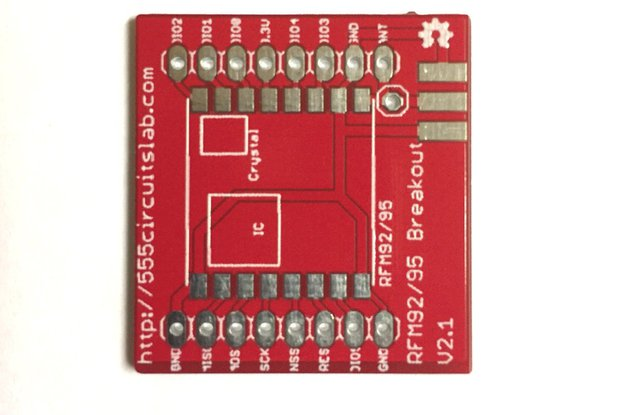 RFM95W  Breakout Board for LoRa Applications