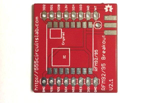 RFM95W  Breakout Board for LoRa Applications