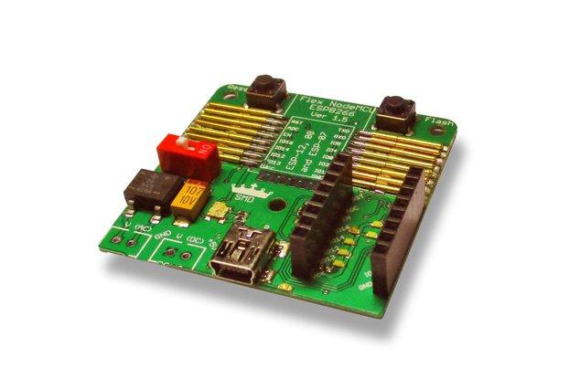 Flexible NodeMCU ESP12, 08 and 07 programmer