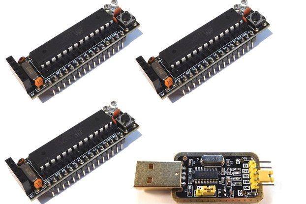 3 x Bread Board Buddy V2 DIY Kit, USB Programmer