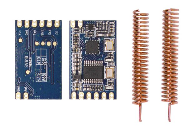 2pcs  SV610 100mW TTL interface Wireless Module