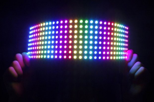 WS2812B flexible RGB LED matrix 8x32