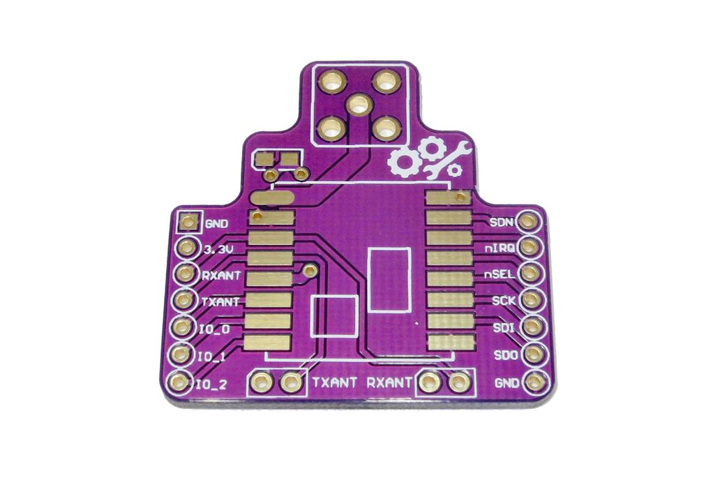 Wireless Breakout Board RFM22B PCB - +20dBm output 1