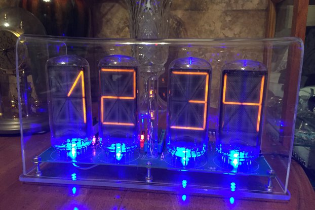 B7971 Nixie clock alphanumeric nixie tubes wifi