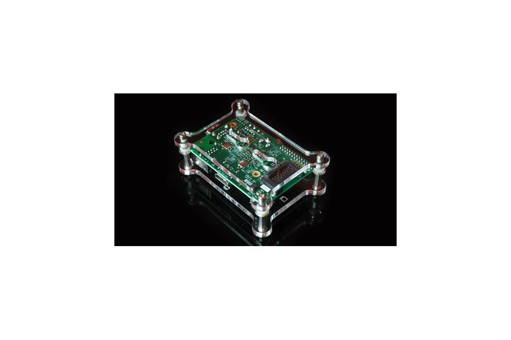 Raspberry Pi Open Clear Case Kit - Wall Mountable