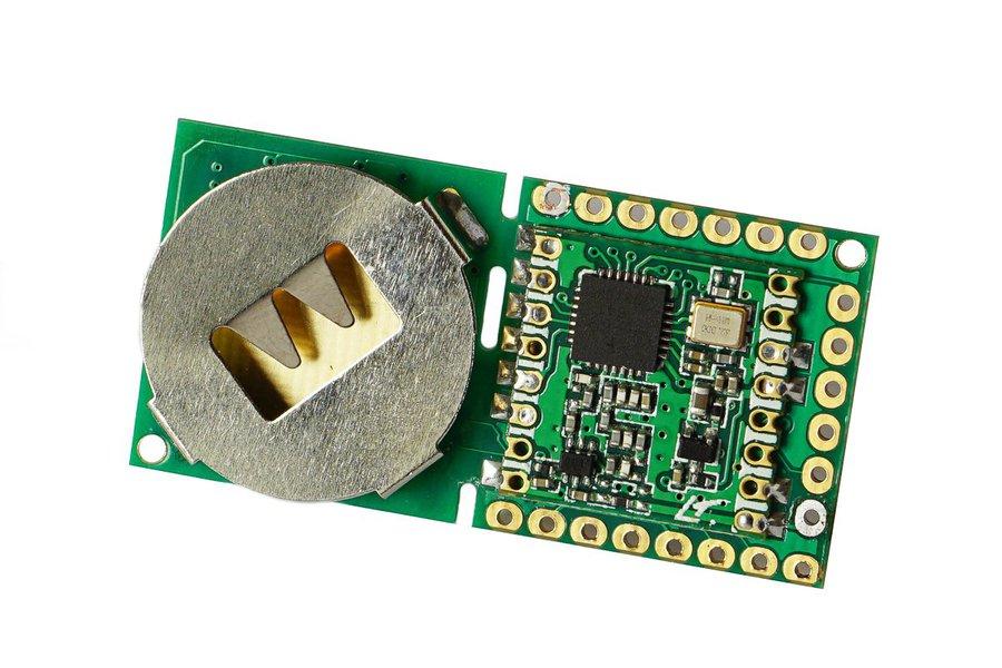 Button Sized RFM 69 Wireless  Node