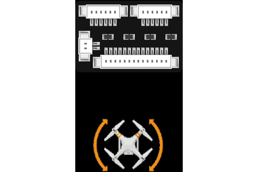 DJI Phantom 2 and Phantom 3S yaw modification kit 1