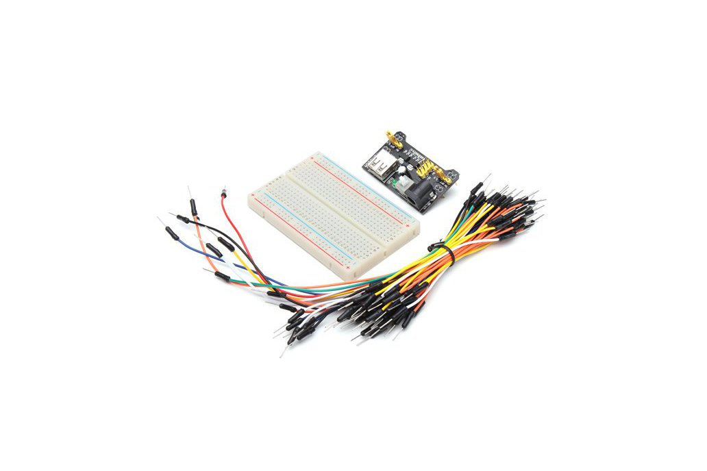 Power Supply, Jumper Cable, Breadboard Kit 1