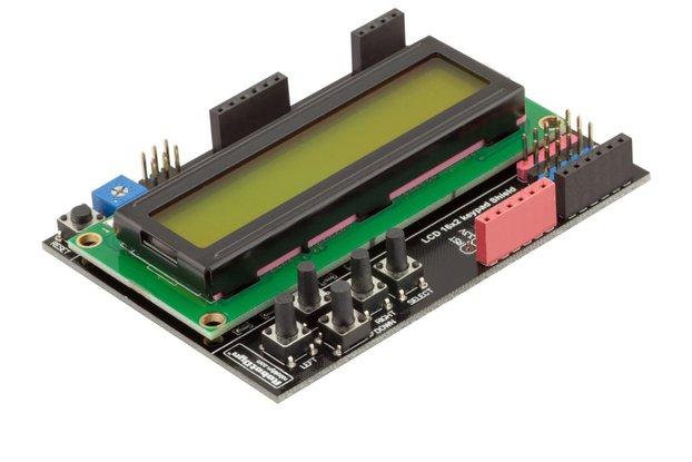 LCD keypad Shield 1602 display by Robotdyn Green