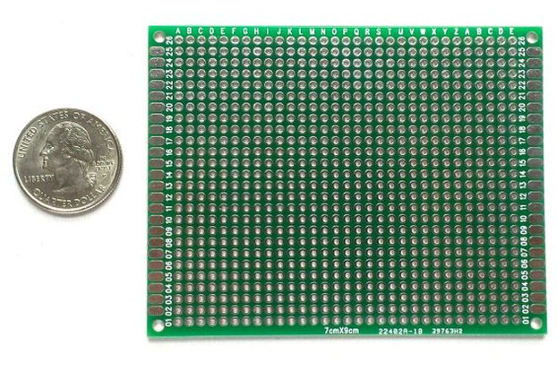 Double-sided general purpose prototyping board